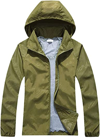 Men Women Fashion Jackets Causal Hooded Coat Windbreaker Zipper Sports Outwear