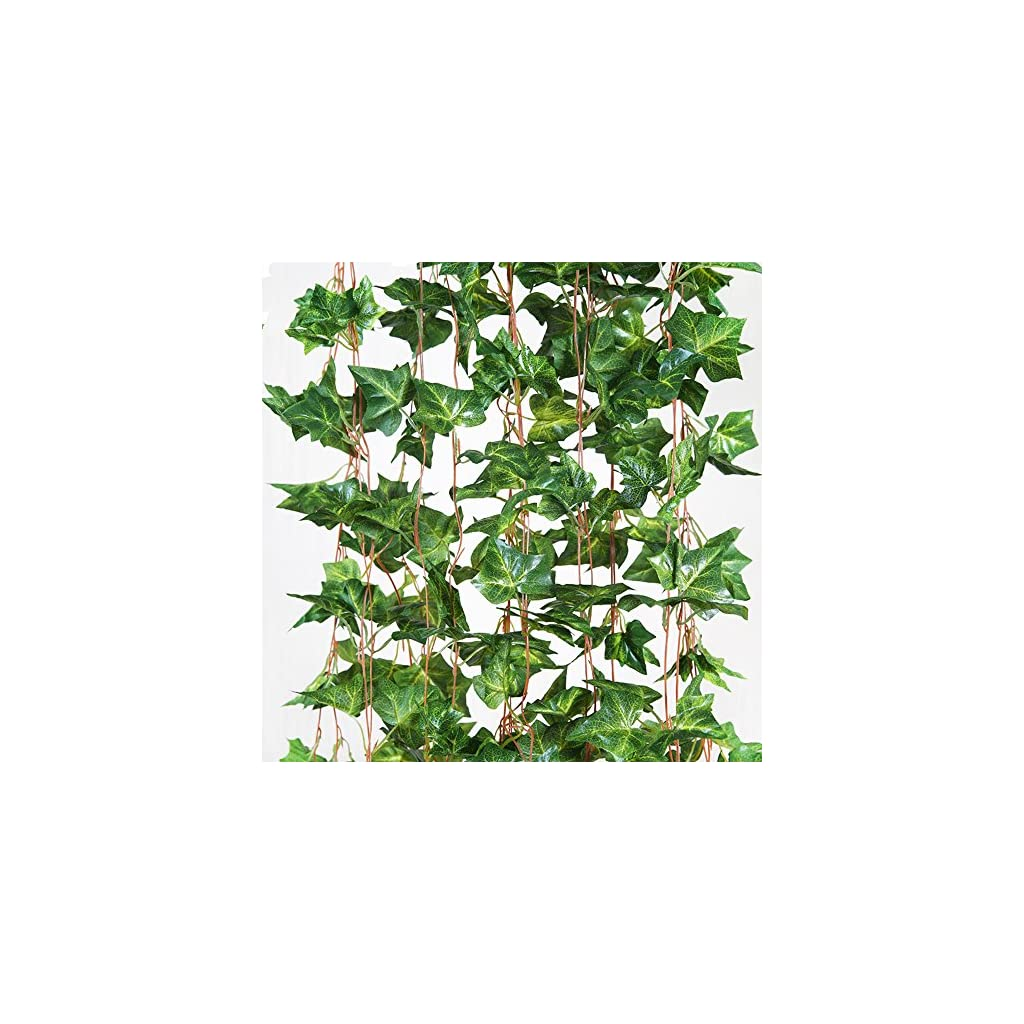 ShineCozy-Fake-Plant-Artificial-Ivy-12-Pack-84-Ft-Garland-Fake-Ivy-Hanging-Vine-Foliage-Green-Leaves-Plant-for-Wedding-Party-Outdoor-Garden-Wall-Decoration