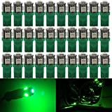Image of AMAZENAR 30-Pack Green Replacement Stock # 194 T10 168 2825 W5W 175 158 Bulb 5050 5 SMD LED Light ,12V Car Interior Lighting For Map Dome Lamp Trunk Dashboard Parking Lights - Best Value
