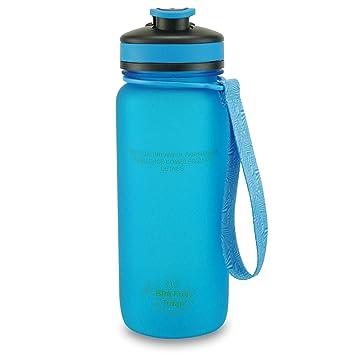 SMARDY Tritan Botella de Agua para Beber Azul - 650ml - de plástico sin BPA -