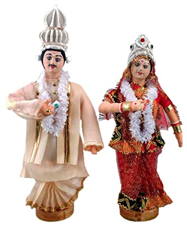 Buy Dollsofindia Bengali Bride And Bridegroom Height 12 Inches