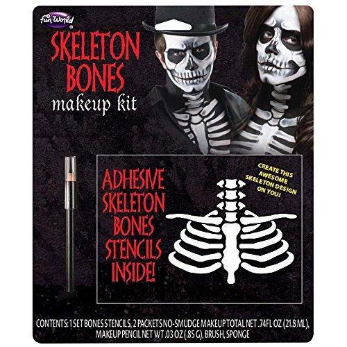 Skeleton Bones for Living Dead Halloween Skull Pirates Cosplay]()