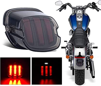 Harley Tail Light Smoked Led Brake Running Light with Turn Signal Motorcycle Tail Light for Dyna Sportster 1200 Road King Road Glide