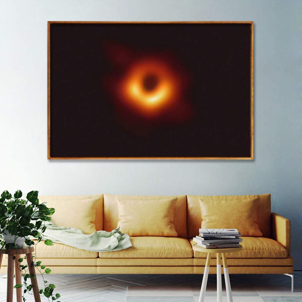 Diath Schwarzes Loch-erstes Foto-fantastisches Bild-Leinwand,Musterdruck des schwarzen Loches des Unisex 3D-Universums 2019