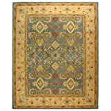 Safavieh AN544D 9-Feet by 12-Feet Anatolia Collection Handmade Hand-Spun Wool Area Rug, Light Blue and Ivory Review