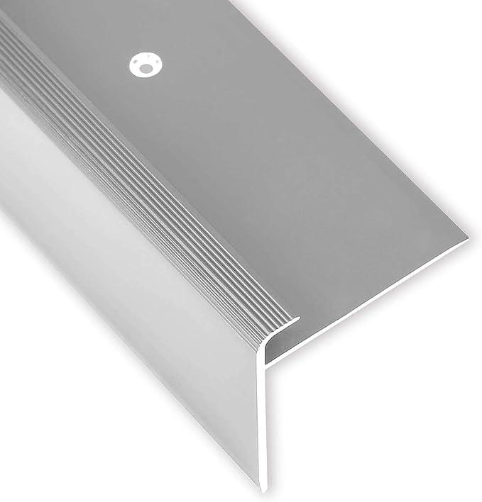 Toolerando Perfil para canto de escalera - 90 cm, forma en F, 53 x 50 mm, montaje con tornillos, bronce: Amazon.es: Bricolaje y herramientas