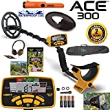 Garrett ACE 300 Metal Detector with Waterproof Coil Pro-Pointer AT and Carry Bag