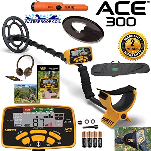 Cheap Garrett ACE 300 Metal Detector with Waterproof Coil Pro-Pointer AT and Carry Bag