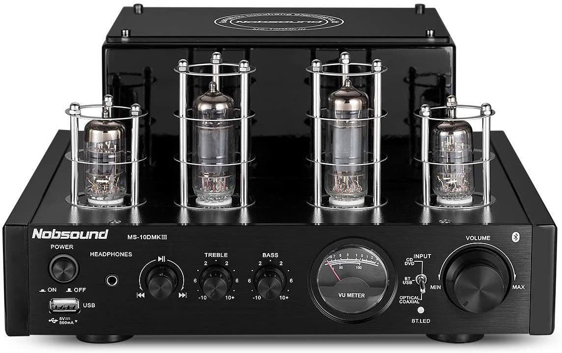 Nobsound MS-10D MKIII HiFi Bluetooth Hybrid Tube Power Amplifier Stereo Subwoofer Amp USB/Opt/Coax