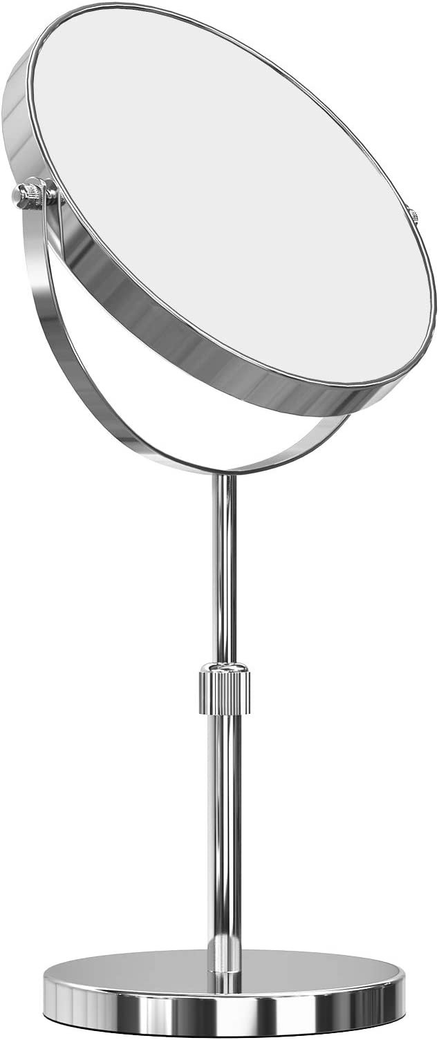 Rouge Spirella Maquillage et de Rasage Rond pivotant Miroir sur Pied