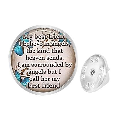 Amazon com: Custom Lapel Pin Brooches Friend Blue Butterfly