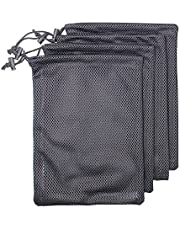 Nylon Mesh Bag, 4-Pack Speicher Ditty Stuff Trekkoord Pouch voor Gym & Travel