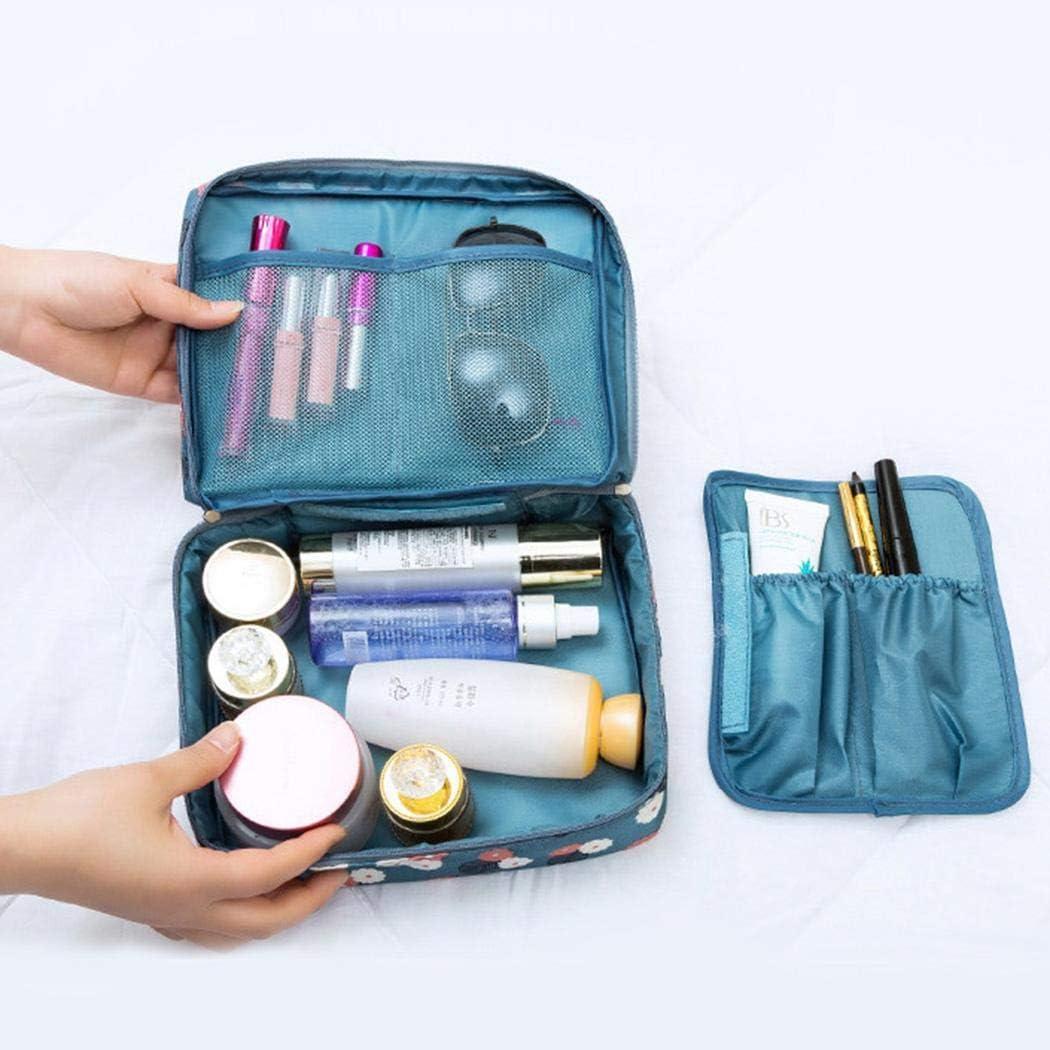 Gfone Trousse de rangement pour trousse de maquillage trousse de toilette portative de grande capacit/é Trousses de toilette