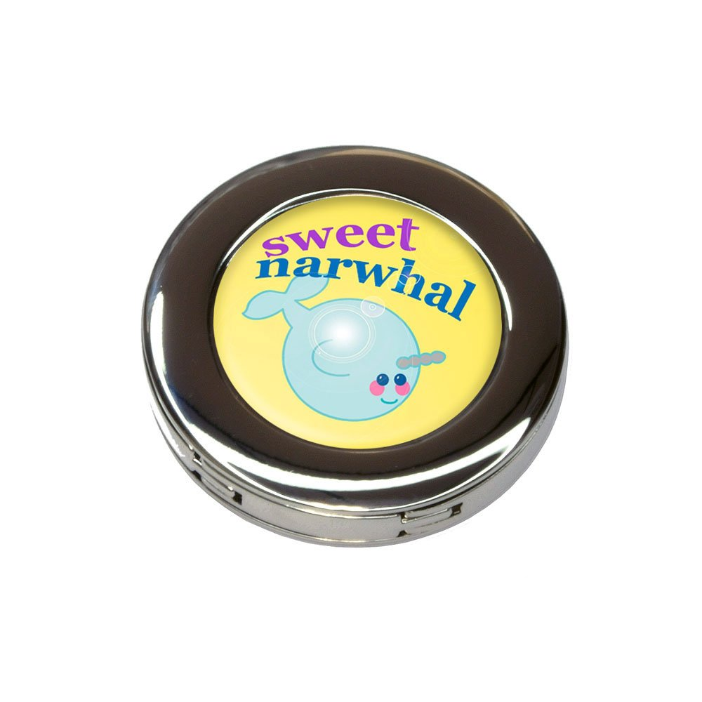 Sweet Narwhal Foldable Retractable Purse Bag Handbag Hook Hanger Holder