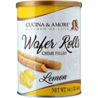 Kitchen & Love Lemon Rolled Wafers, 400g