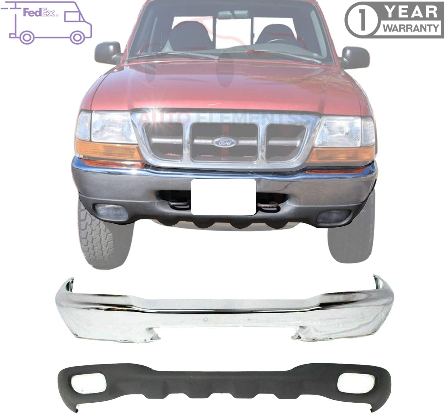 Arizona Beige W// Fog Light Holes Expedition // F-150 Front Lower Valance Perfect Fit Group F017510 Panel W//O Tow Hook Holes