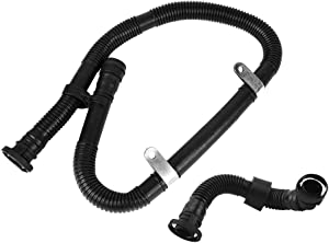 runmade 2pcs Secondary Air Injection Pump Hose Pipe SAI Set Kit Compatible with VW Jetta Bora Golf MK4 1.8T Compatible with AUDI A3 TT S3 1.8T