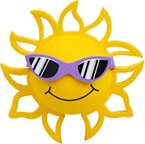 Coolballs California Sunshine w Sunglasses Car Antenna Topper/Auto Mirror Dangler/Desktop Spring Stand Bobble Buddy (Purple Sunglasses - Fits Thick Fat Style Antenna) (Cute Car Accessory)