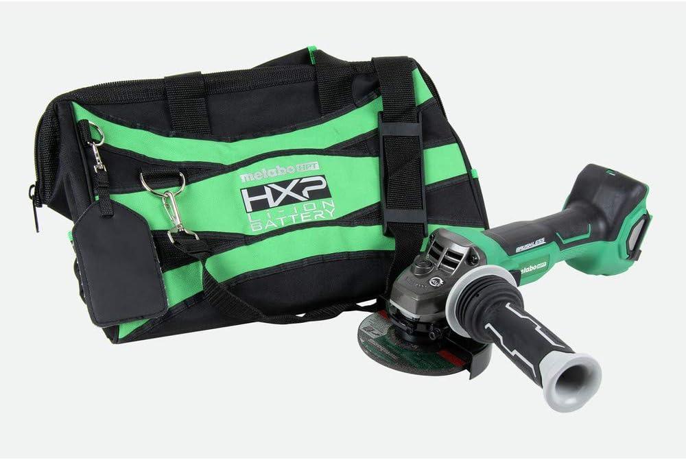 Slide Switch Grinder with Bag Bare Tool Metabo HPT G3612DAQ6M MultiVolt 36V Brushless 4 1//2 in