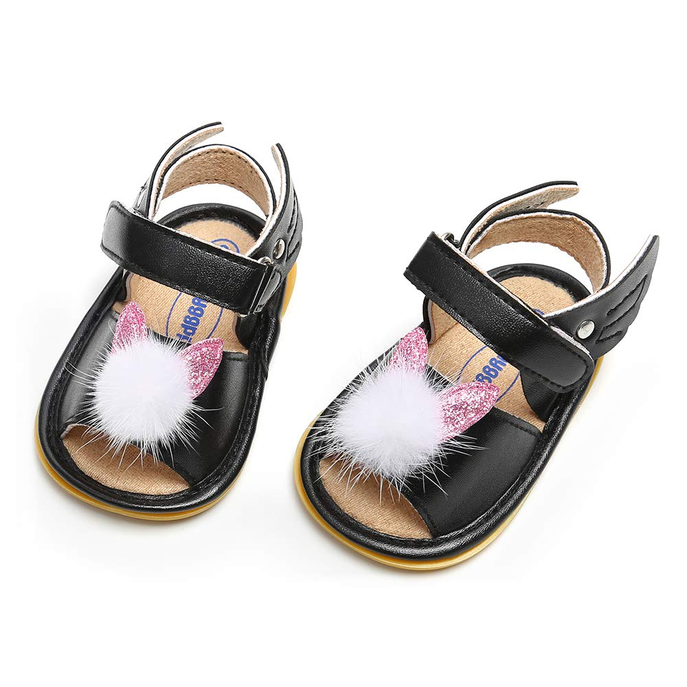 QGAKAGO Baby Girls Crown or Bunny Ear Rubber Sole Anti-Slip Summer Sandals