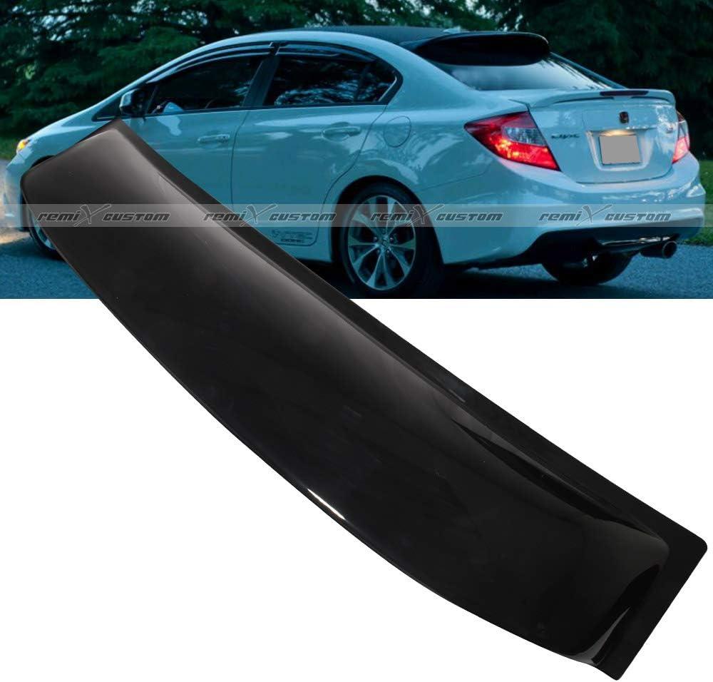 For 2006-2015 Honda Civic 4-DR VIP Carbon Fiber Rear Roof Window Spoiler Wing