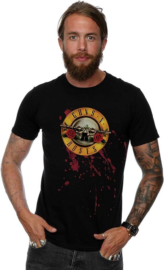Guns N Roses Hombre Blood Splatter Camiseta: Amazon.es: Ropa y accesorios