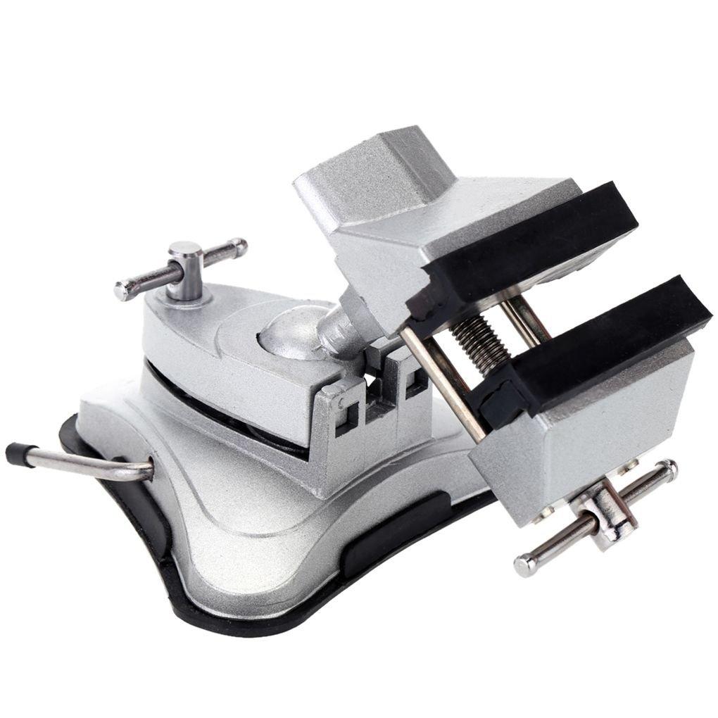 beIilan Morsa da banco Vuoto di aspirazione Tabella morsa 360 Gradi Universale Alluminio Regolabile Strumenti Tabella Lega Bench Vite di Riparazione