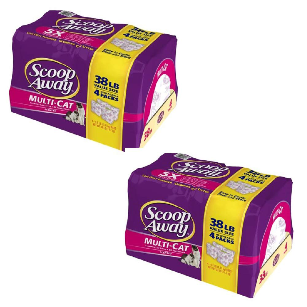 Amazon.com : Scoop Away Multi-Cat, Scented Cat Litter, 25 Pound Carton : Pet Supplies