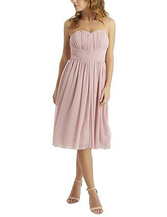 LIPSY Womens Grace Mesh Multiway Midi Dress Pink US 10 (UK 14)