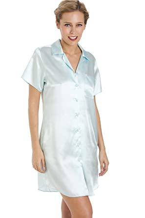 00cd9db9ef Camille Womens Ladies Luxurious Knee Length Mint Green Satin Nightshirt   Camille  Amazon.co.uk  Clothing