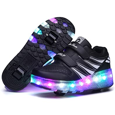 8f3f1d38fa52 Nsasy Roller Shoes Roller Skates Shoes Girls Boys Wheel Shoes Kids Wheel  Sneakers Roller Sneakers Shoes