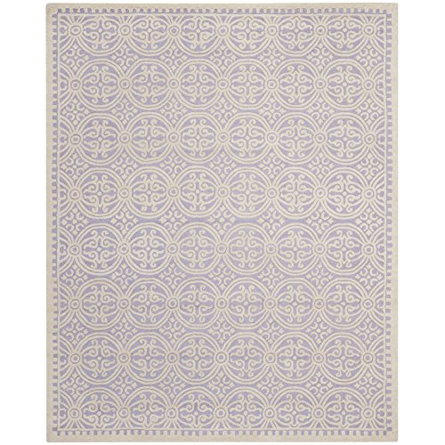 Safavieh Cambridge Collection CAM123C Handcrafted Moroccan Geometric Lavender and Ivory Premium Wool Area Rug (8' x - Carpet Handmade