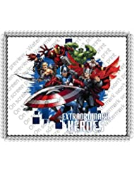 1/4 ~ Avengers Extraordinary Heroes Birthday ~ Edible Image Cake/Cupcake Topper!!!