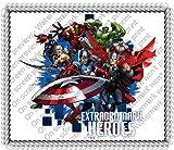 1/4 ~ Avengers Extraordinary Heroes Birthday ~ Edible Image Cake/Cupcake Topper!!!