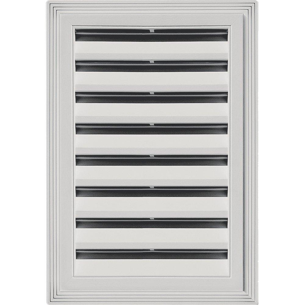 Builders Edge 120061218030 12'' x 18'' Rectangular Vent 030, Paintable