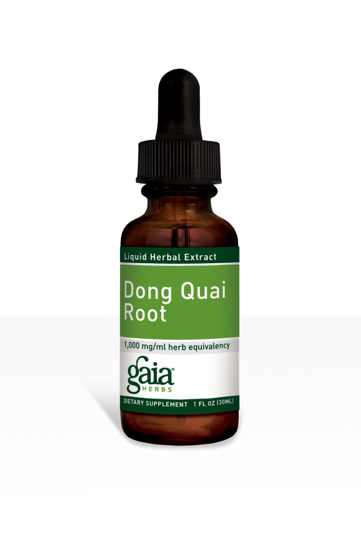 Gaia Herbs Dong Quai Root, Liquid Herbal Extract, 1 Ounce (Pack of 2) - Female Reproductive Support