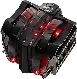 Cooler Master V8 GTS High Performance CPU Cooler w/ Horizontal Vapor Chamber, 8 Heatpipes, Aluminum Fins, Dual 120mm Fans, Red LED, Intel LGA1151