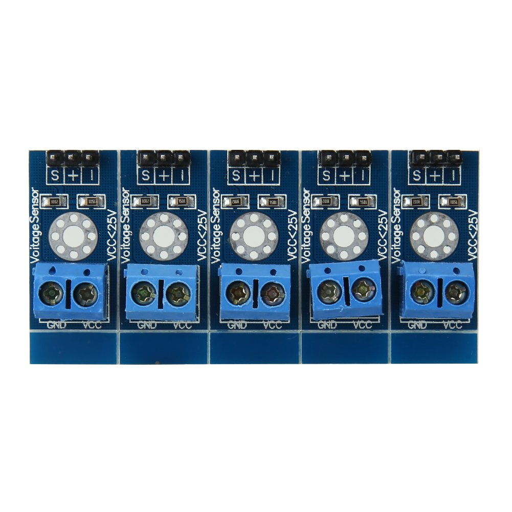 5er Pack Spannung Erkennung Sensor-Modul aktuellen Sensor Detektor Modul Erfassungsbereich dc0.02445 V-25 V fü r Arduino vanpower 114609