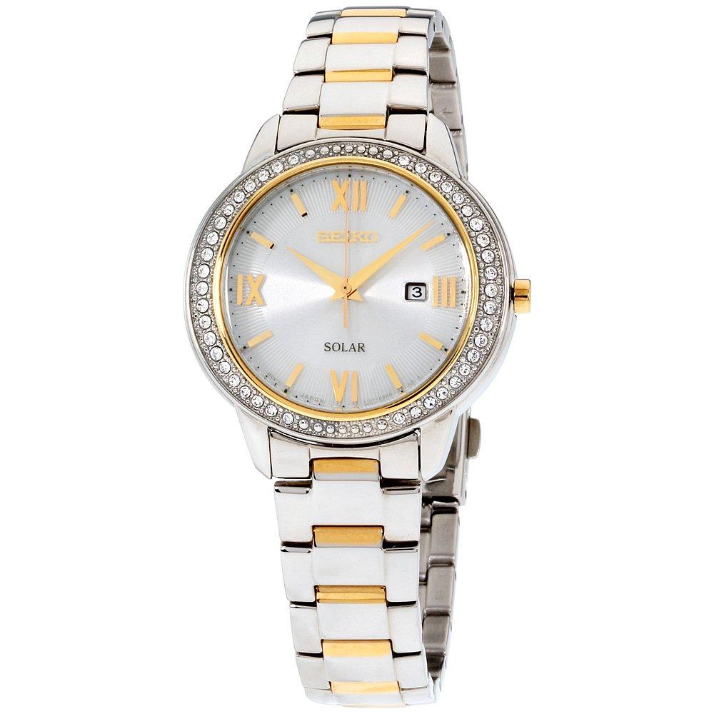 Seiko Womens silver dial, stainless-steel bracelet watch SUT246XG (Certified Refurbished)