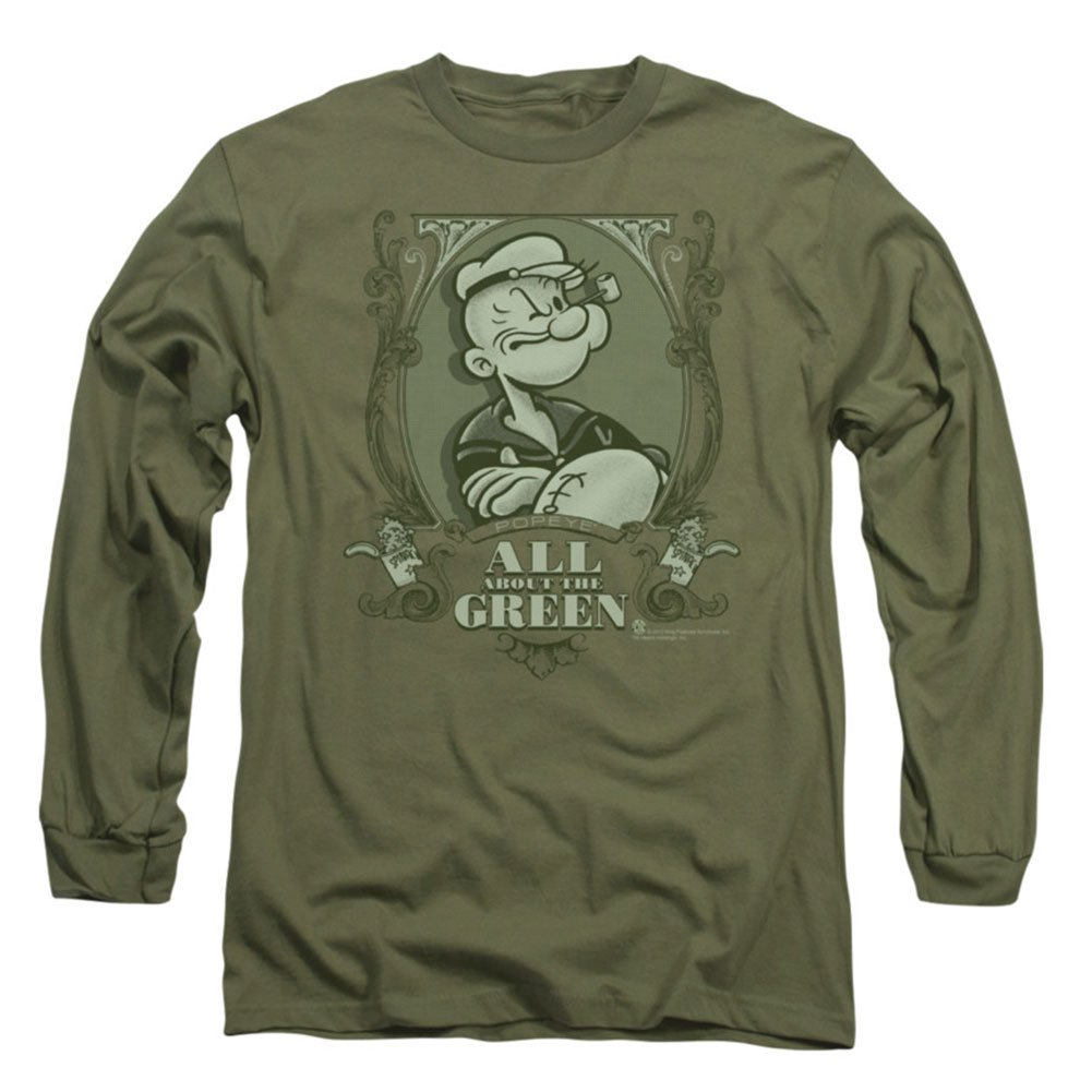 Popeye The Sailor Man Character All About The Green Adult T Shirt