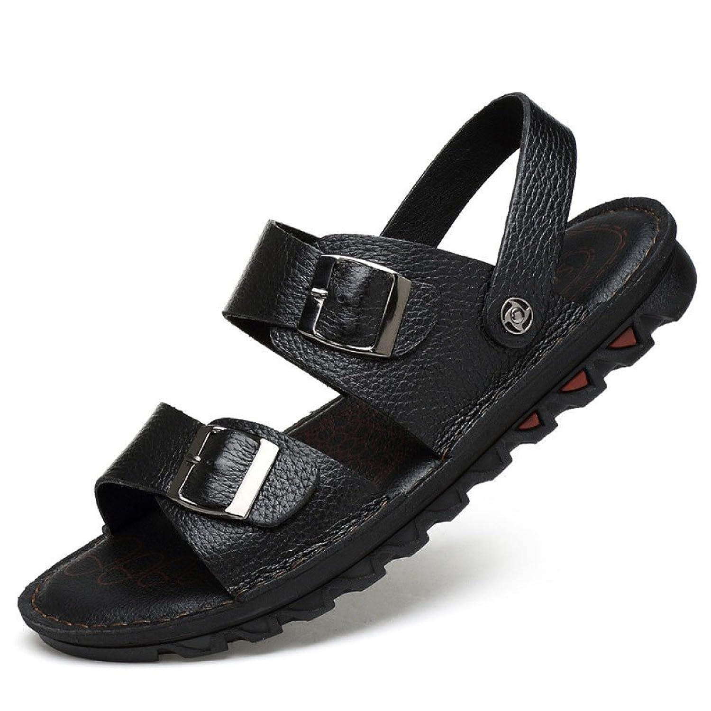 Sandalias para Hombres Zapatos De Playa Ocasionales Respirables De Verano Antideslizantes Black