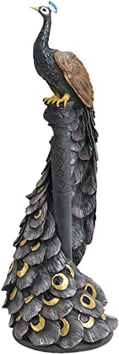 Design Toscano EU1007 The Peacock's Garden View Statue,Full Color