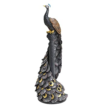 Design Toscano EU1007 The Peacocku0027s Garden View Statue