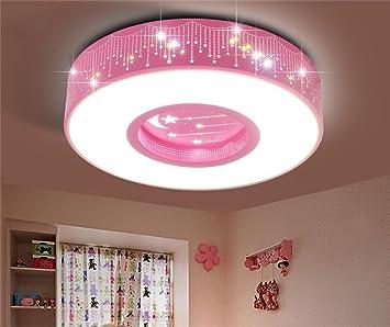 LILSN- Casa de los niños Lámpara de techo LED Estrellas Luna ...