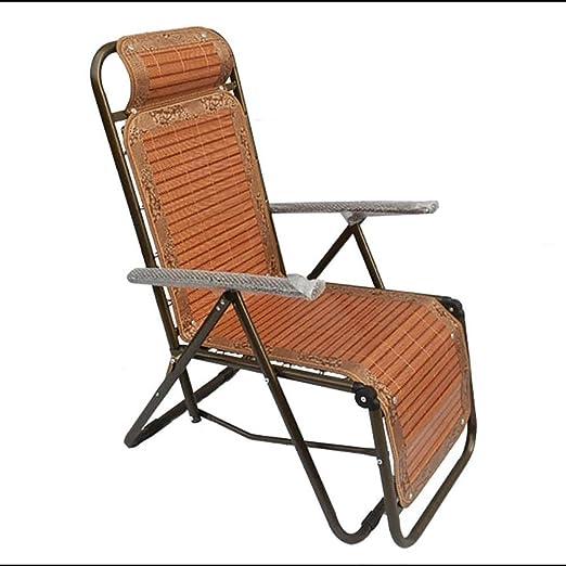 WXF Tumbonas de Bambú Estera de Bambú Plegable, Silla de Jardín Al Aire Libre Siesta Chaise Longue Cane Chair Silla Plegable Cool: Amazon.es: Hogar