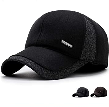 ZHANGQIAN Sombreros de Invierno para Hombre con Gorras de béisbol ...