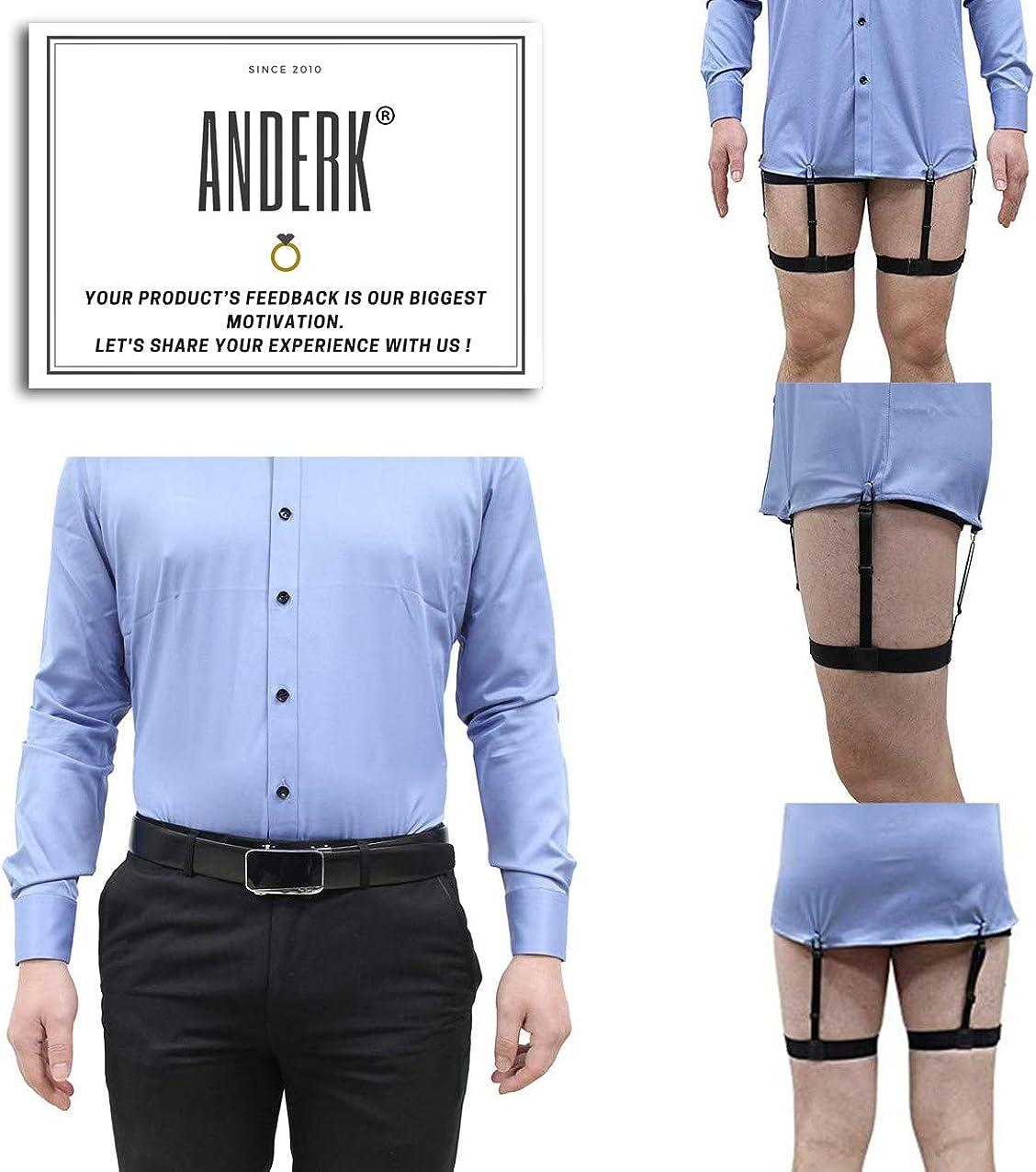 Porta camicia da uomo STAY GENT Shirt Stays 4 pezzi 2 coppie colore: Nero