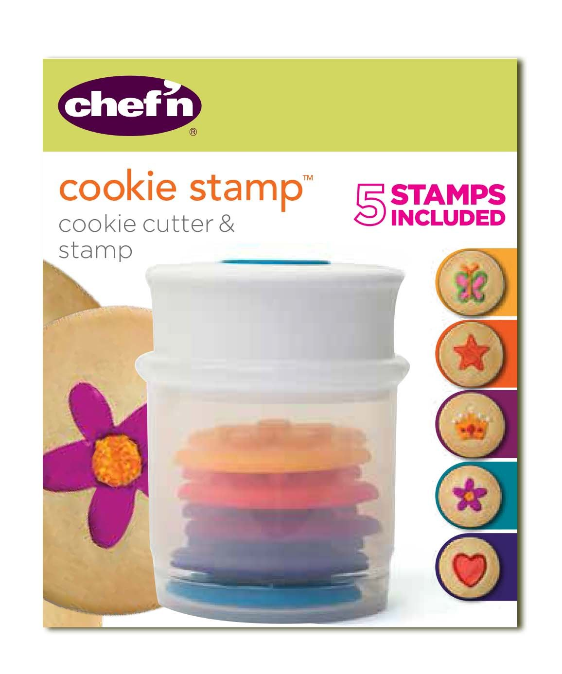 Chef'n Cookie Cutter and Stamp, Dinosaur Shapes Chef' n 108-654-100