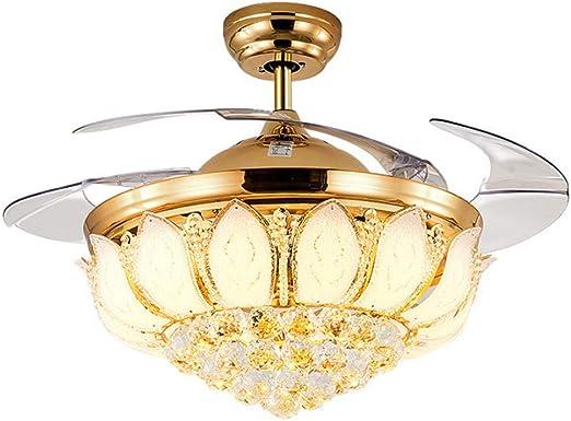 Luz cristalina del ventilador de techo, ventilador de techo de ...