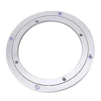Aluminium Drehteller Lager Schwenkplatte 10 Zoll Silber Swivel Platten Möbel Hardware